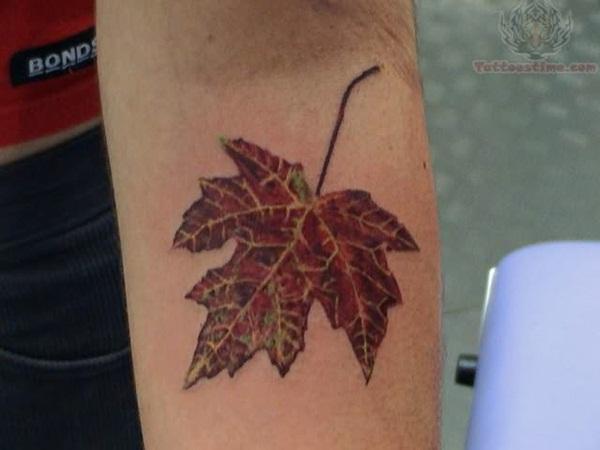 Leaf Tattoo Design Ideas 10