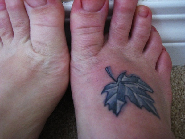Leaf Tattoo Design Ideas 25
