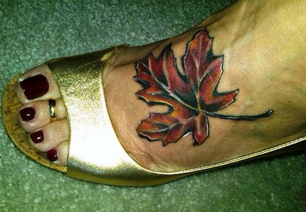 Leaf Tattoo Design Ideas 26