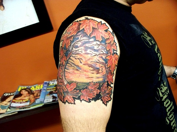 Leaf Tattoo Design Ideas 27