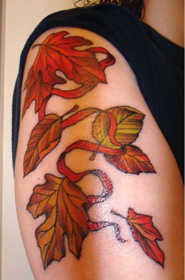 Leaf Tattoo Design Ideas