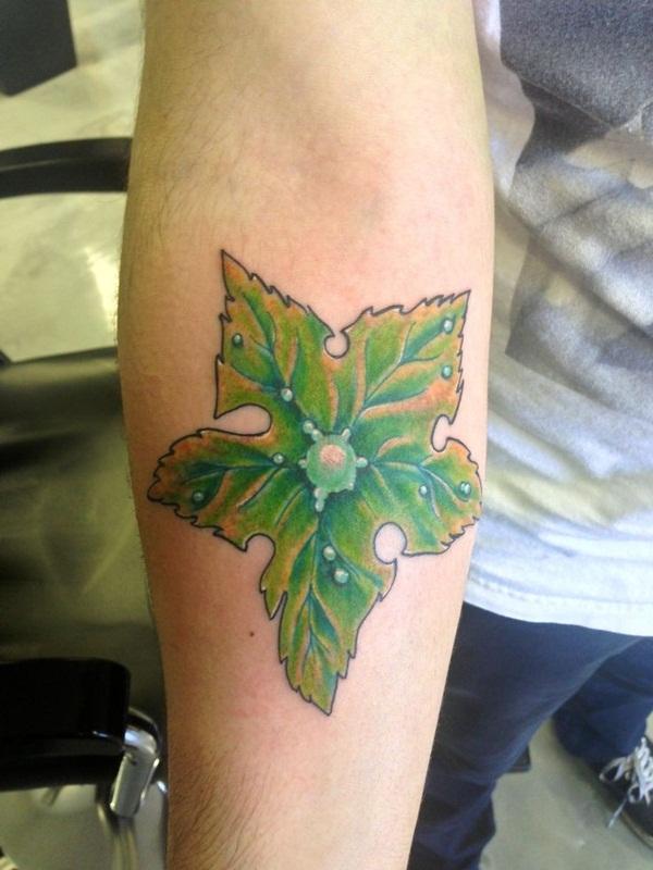 Leaf Tattoo Design Ideas 5