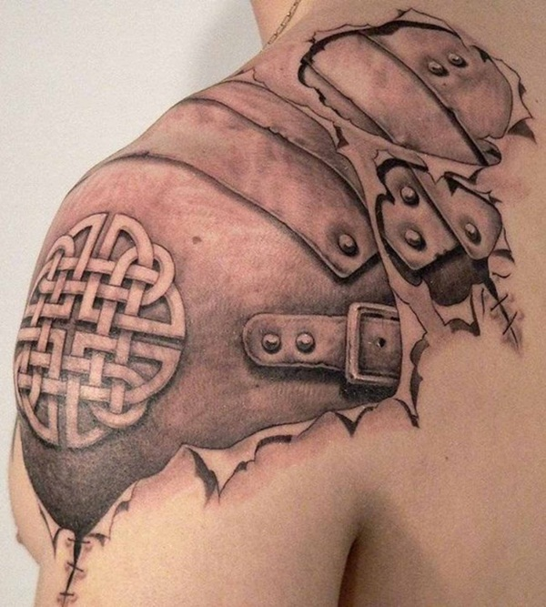 Ripped Skin Tattoo Design and Ideas 26