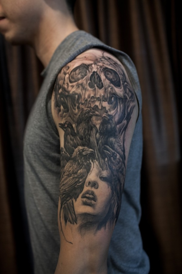 Stunning Black And Grey Tattoos 29