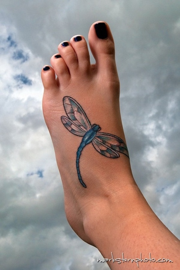 foot tattoo designs for girls 14