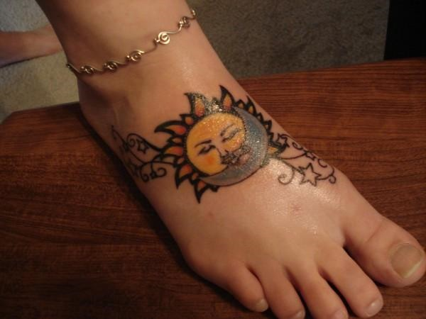 foot tattoo designs for girls 22