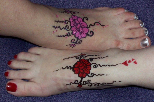 foot tattoo designs for girls 40