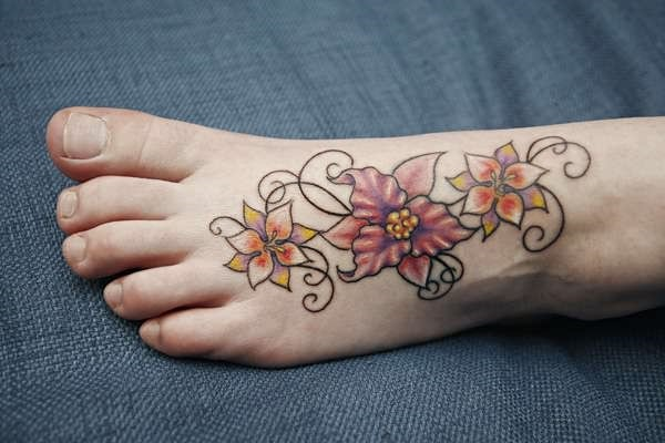 foot tattoo designs for girls 45