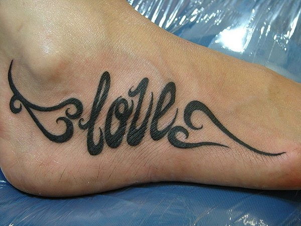 foot tattoo designs for girls 8