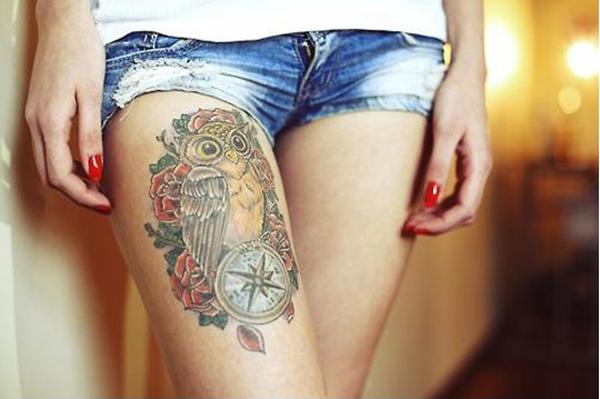 Compass Tattoo Designs 14