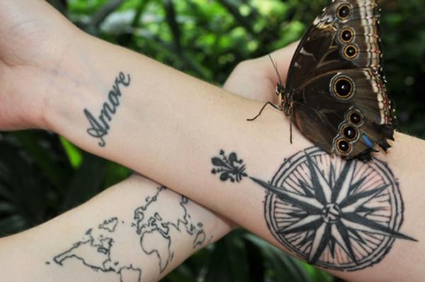 Compass Tattoo Designs 16