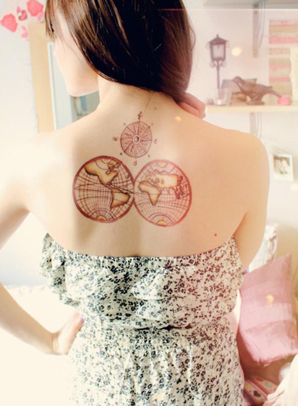 Compass Tattoo Designs 4