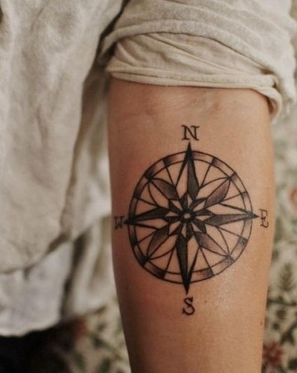 Compass Tattoo Designs 9