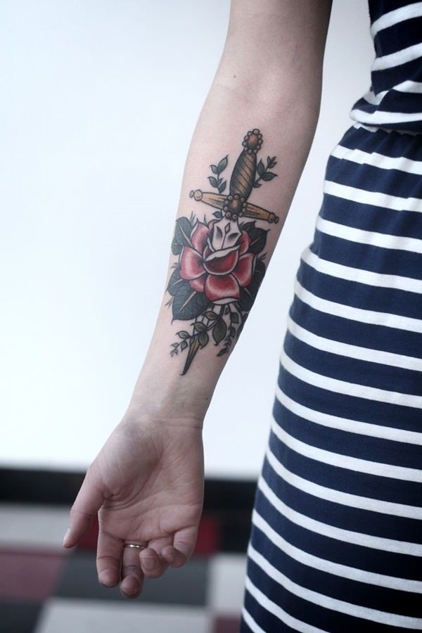 Forearm Tattoos for Men Women 49
