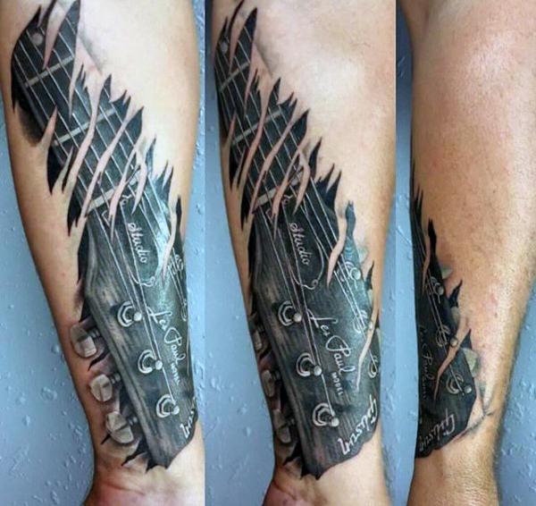 Guitar Tattoo Designs and Ideas 16