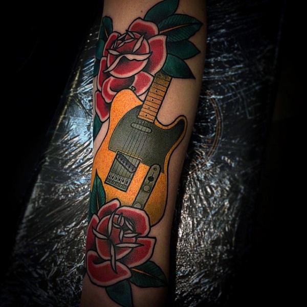 Guitar Tattoo Designs and Ideas 24