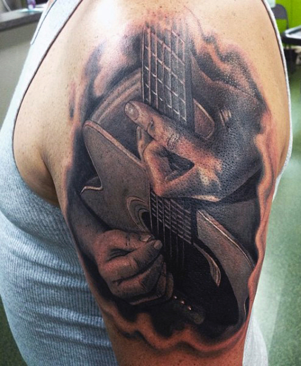 Guitar Tattoo Designs and Ideas 35