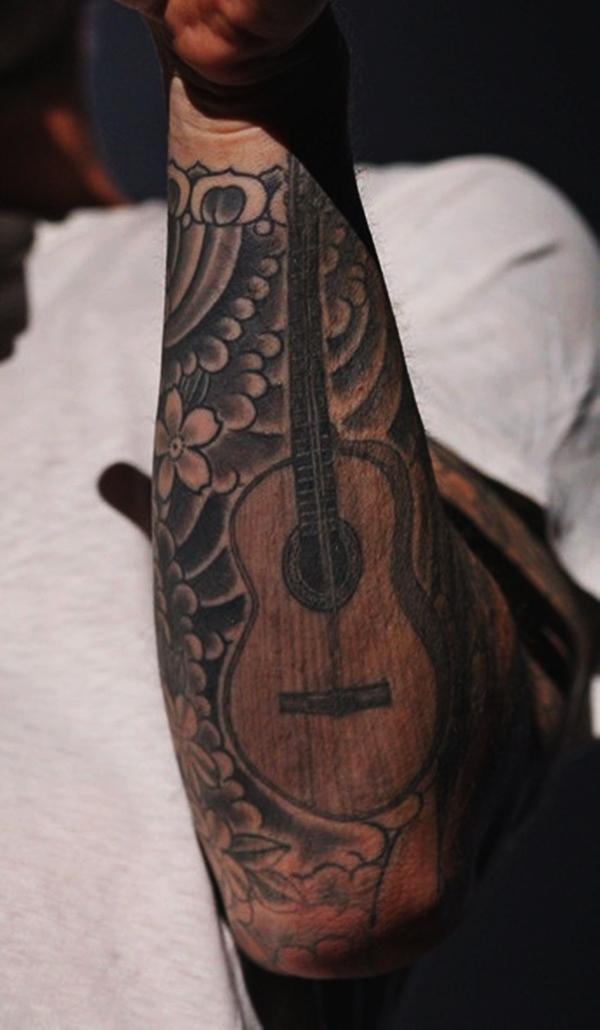 Guitar Tattoo Designs and Ideas 4
