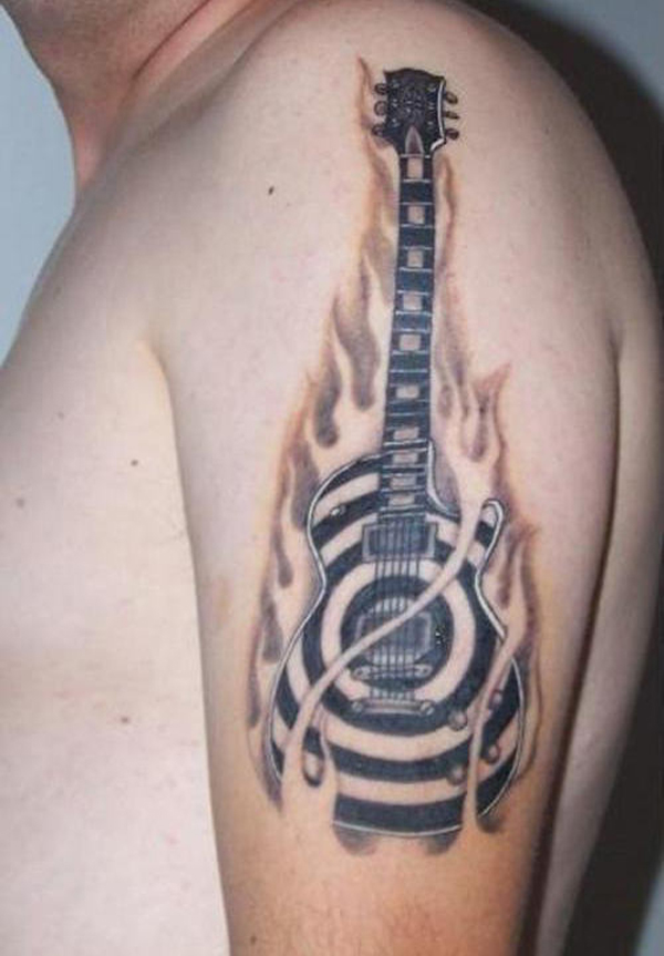 Guitar Tattoo Designs and Ideas 40