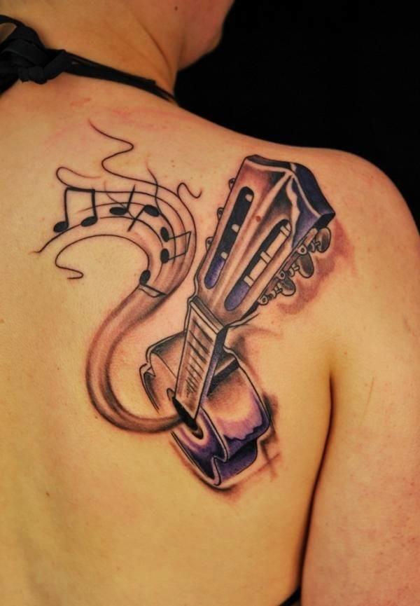 Guitar Tattoo Designs and Ideas 6