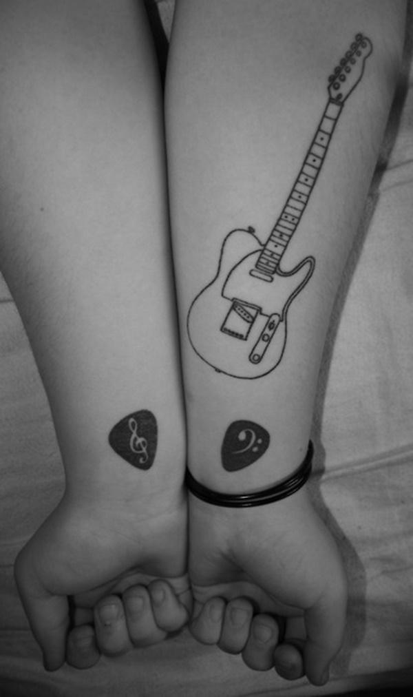 Guitar Tattoo Designs and Ideas 7