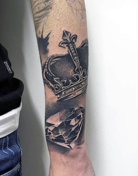 Remarkable Arm Crown Tattoos for Men