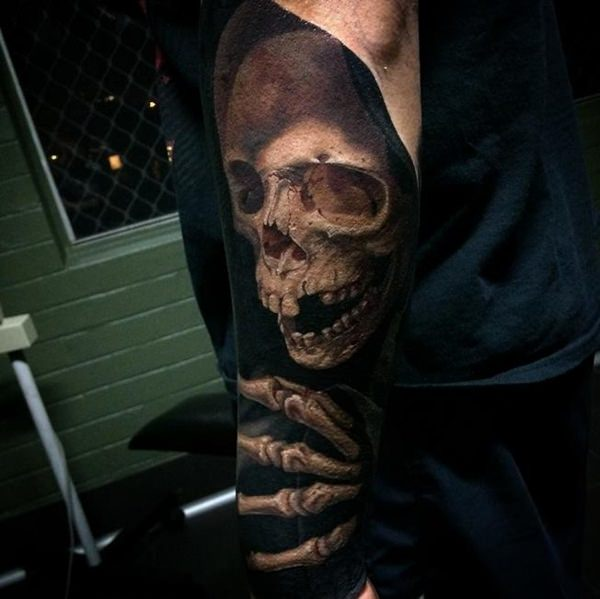 Skull Tattoos for Men and Women 75