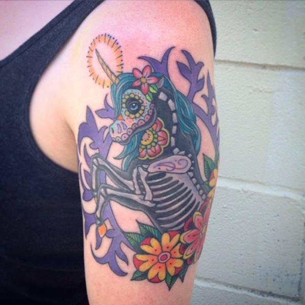 Unicorn Tattoo Designs 15