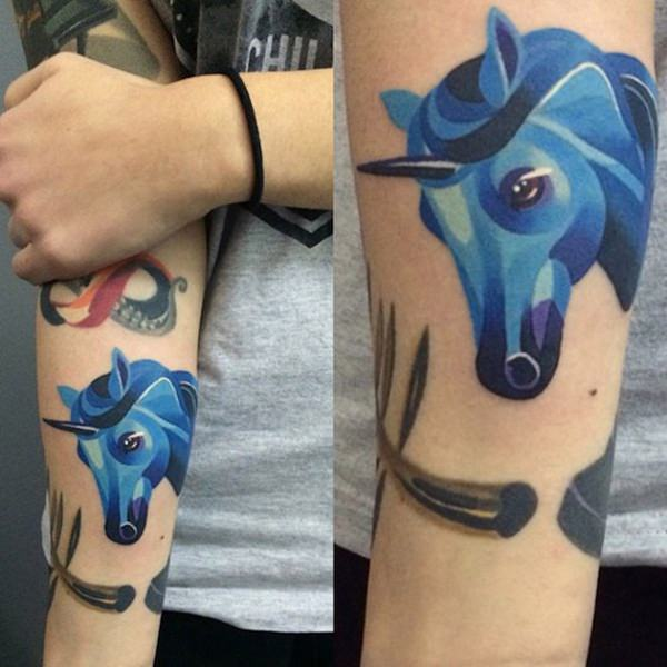 Unicorn Tattoo Designs 30