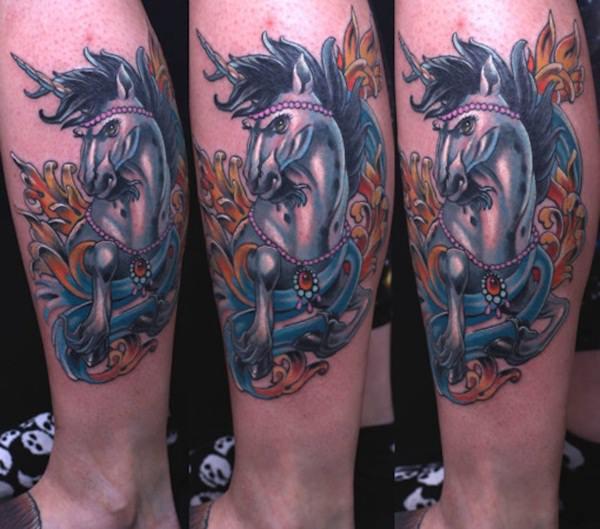 Unicorn Tattoo Designs 56