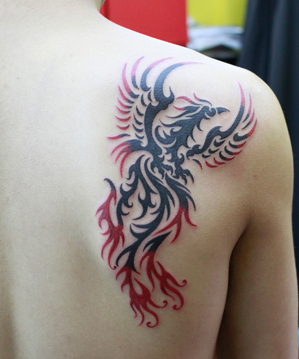 Beautiful Phoenix Tattoo Designs 10