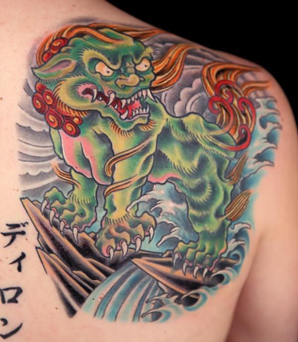 Breathtaking Foo Dog Tattoos for Inspiration 11