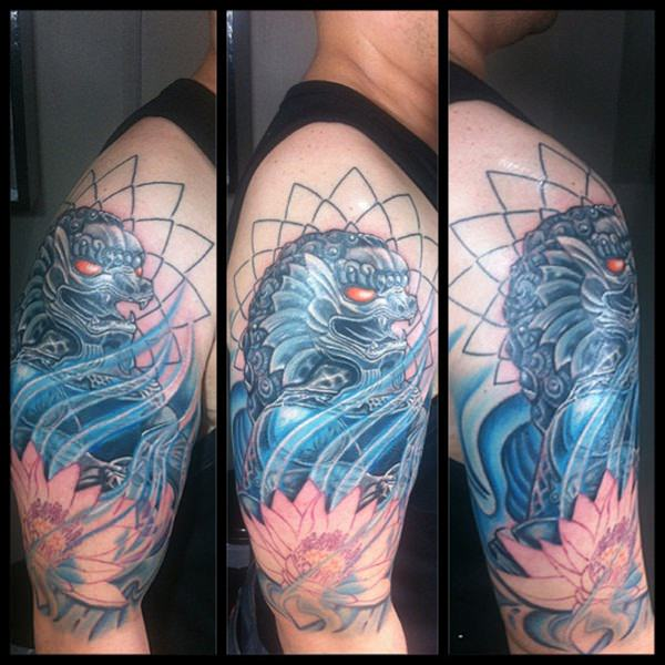 Breathtaking Foo Dog Tattoos for Inspiration 21