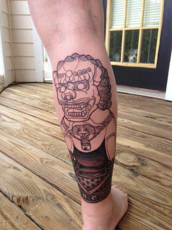 Breathtaking Foo Dog Tattoos for Inspiration 27