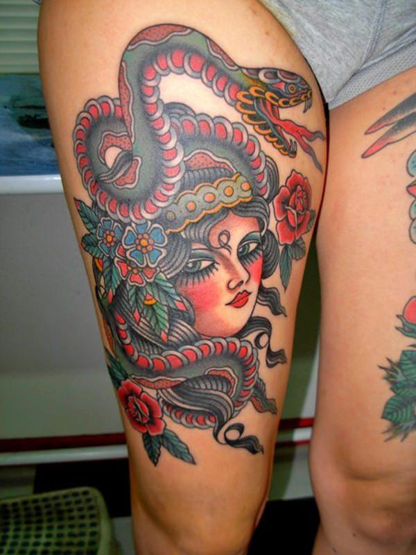 Extraordinary Medusa Tattoo Designs 15