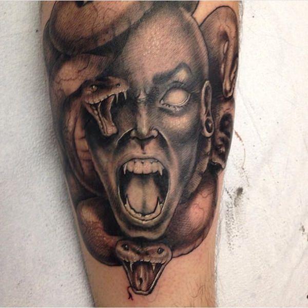 Extraordinary Medusa Tattoo Designs 17