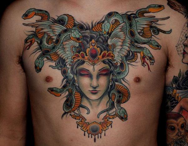 Extraordinary Medusa Tattoo Designs 29