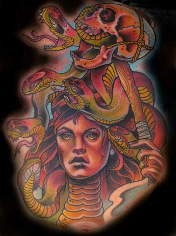 Extraordinary Medusa Tattoo Designs 5