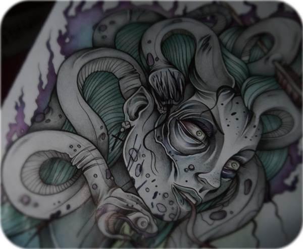 Extraordinary Medusa Tattoo Designs 8
