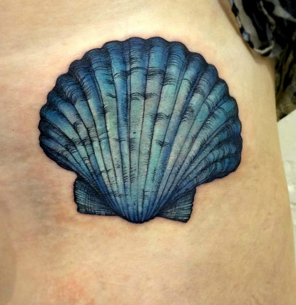 45 Beautiful Seashell Tattoos Designs For Men and Women