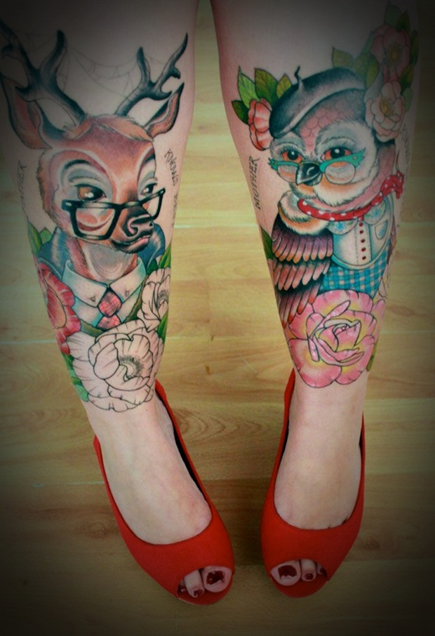 50 Leg Tattoos Designs and Ideas for Women