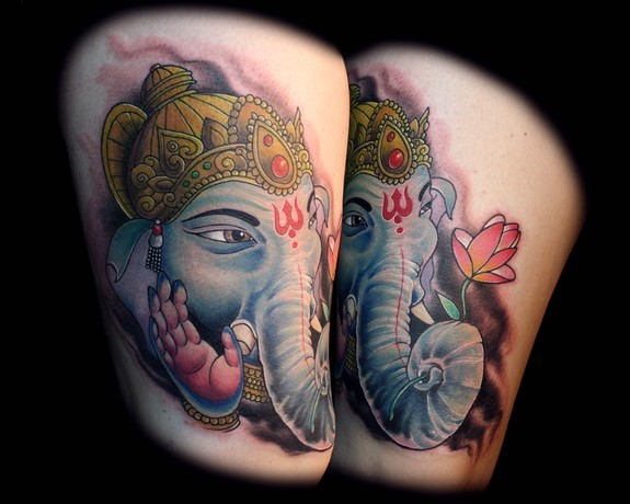 Lord Ganesha Tattoos Designs and Ideas