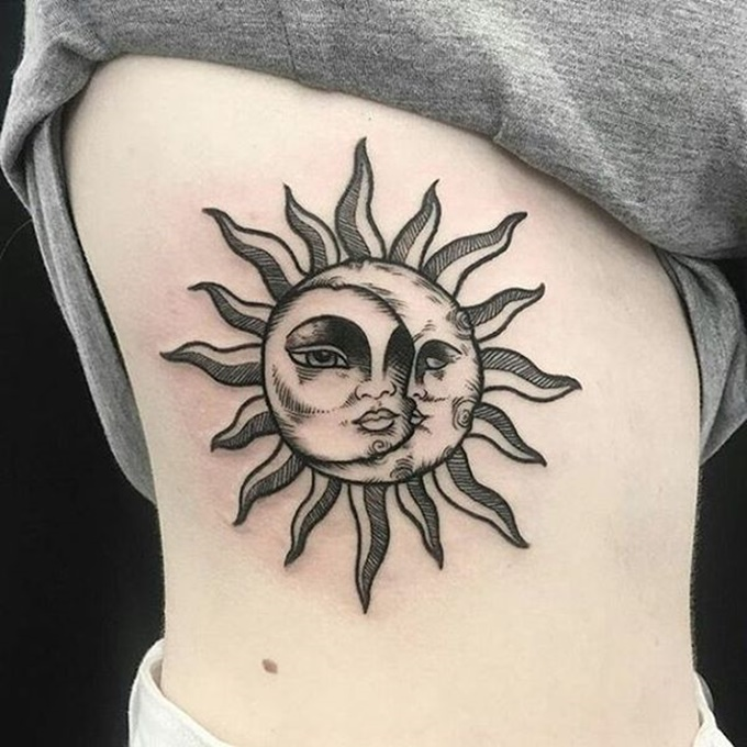 Sun and Moon Tattoos Designs and Ideas