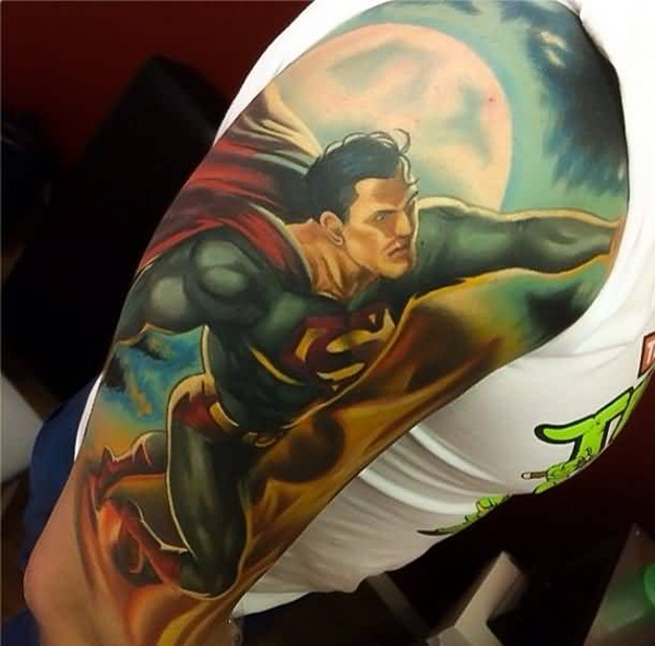 Superman Tattoo Designs and Ideas