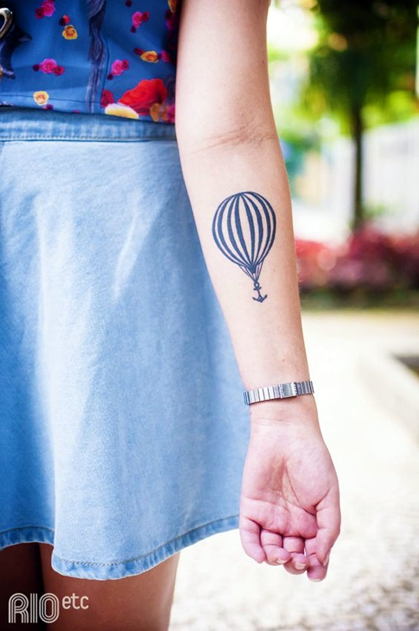 Hot Air Balloon Tattoos Designs And Ideas