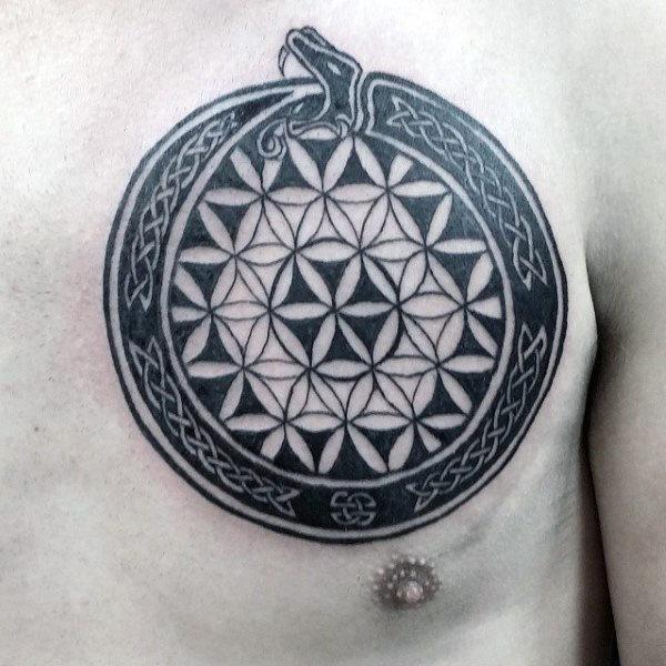Beautiful Ouroboros TattoosDesigns and Ideas