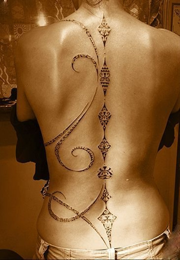 Attractive Back Tattoos Designs for Women