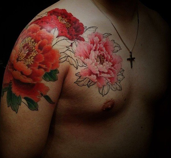Most Beautiful Peony Tattoos Designs and Ideas