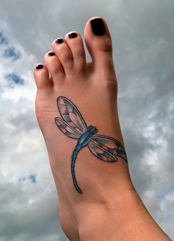 Dragonfly Tattooon foot