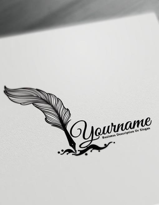 Caneta-tinteiro logotipo tatuagem Design